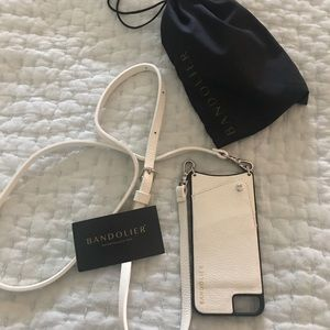 Bandolier leather white Emma case iPhone 6 7 8 EUC